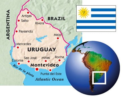 uruguay haritasi