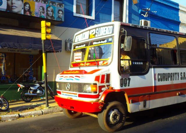 transportación urbana linea 12 asuncion