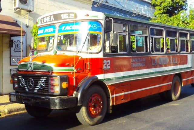 transportación urbana asuncion paraguay bus colectivo