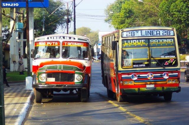 transportación urbana Asuncion colectivos buses
