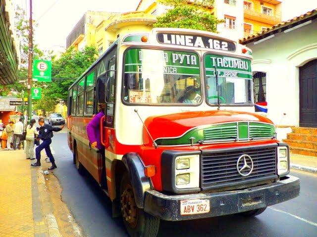 transportación urbana asuncion colectivo