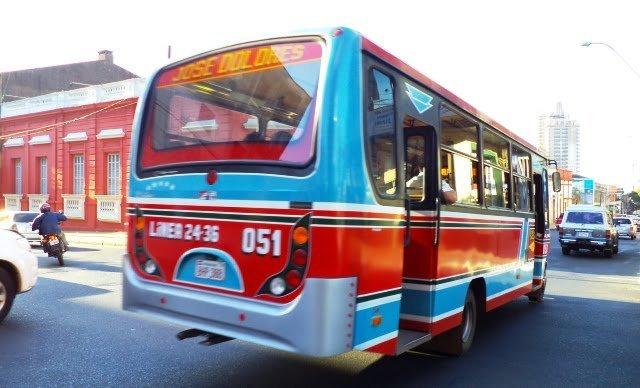 Asuncion Paraguay  public bus otobüs