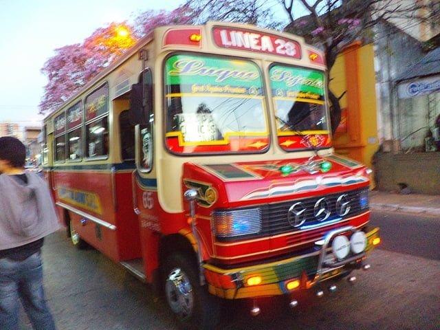 Asuncion colectivo Linea 28 transportación urbana