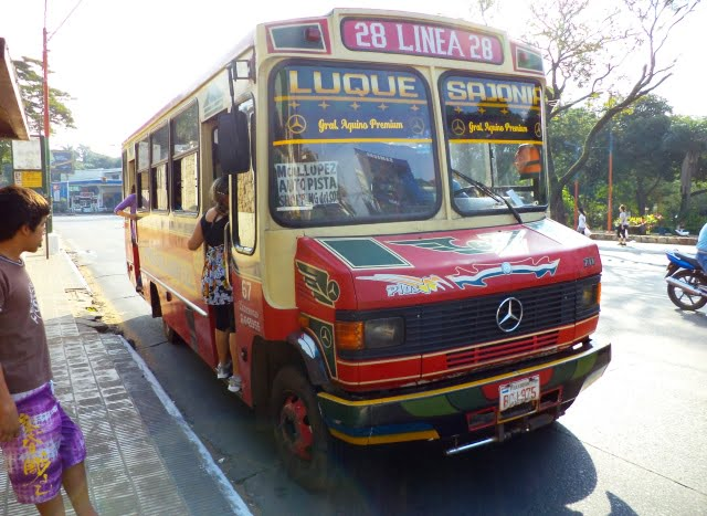 Asuncion Paraguay transportación urbana