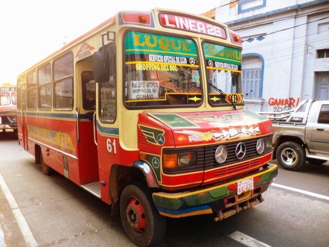 Asuncion Paraguay Linea 28 transportación urbana