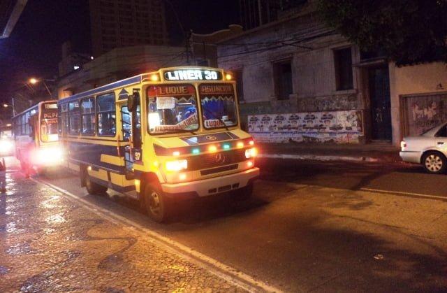 asuncion transportación urbana