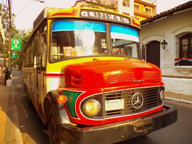 transportación urbana asuncion public bus linea 6 colectivo bus