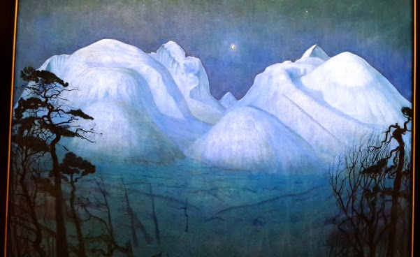 Vinternatt i Rondane Harald Sohlberg