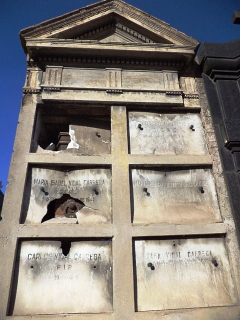 Recoleta Mezarlığı. Cementerio de la Recoleta, Buenos Aires