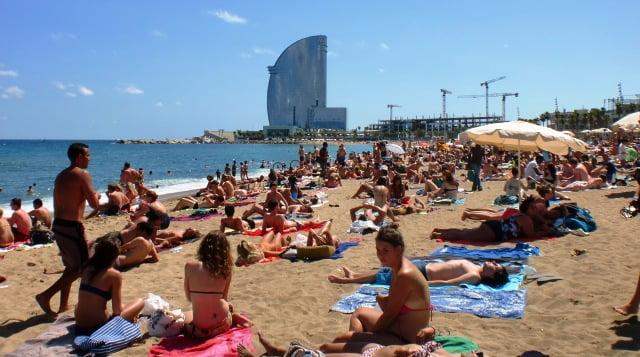 Barselona deniz kumsal