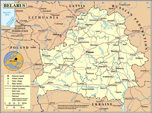 beyaz rusya harita