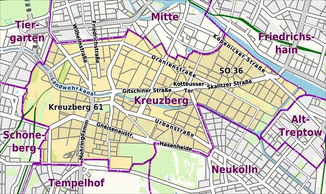 Kreuzberg harita
