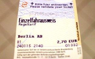 Berlin metro bileti