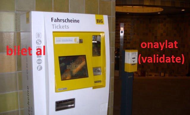 Berlin şehir içi bilet alma