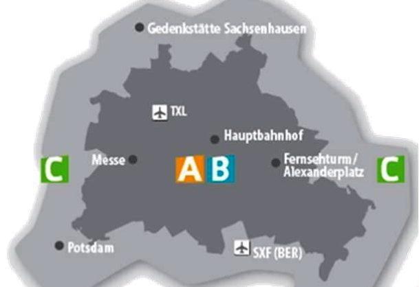 Berlin şehri bölgeler