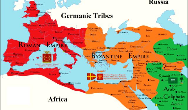 Doğu Roma İmparatorluğu haritası