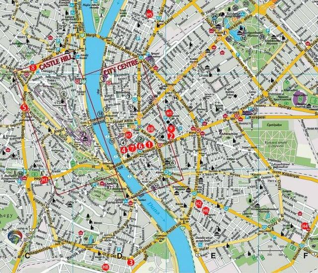 Budapeşte haritası