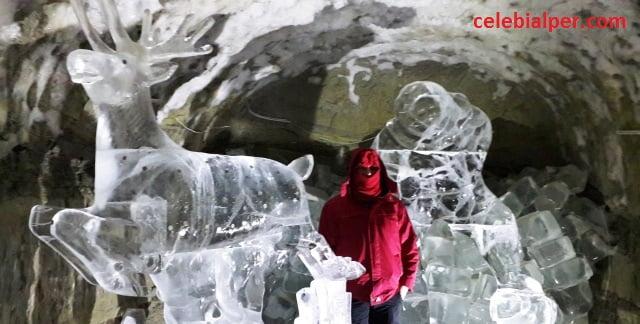 buzdan heykel