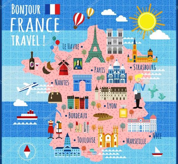 Fransa gezi harita