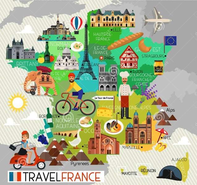 Fransa gezilecek yerler harita