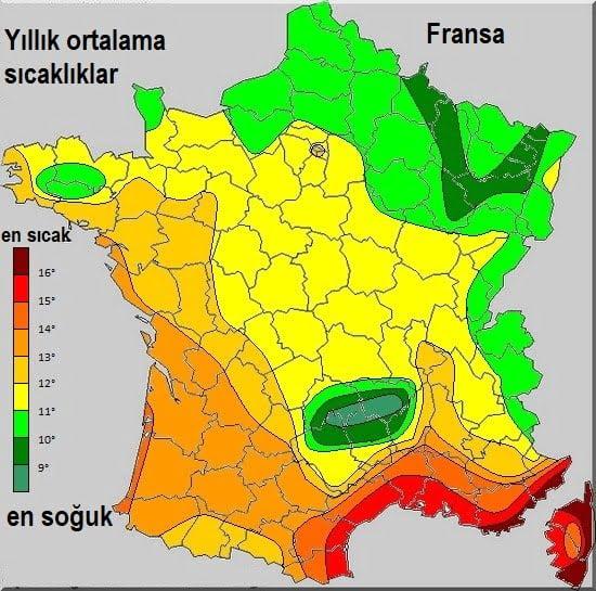 Fransa iklim bilgileri