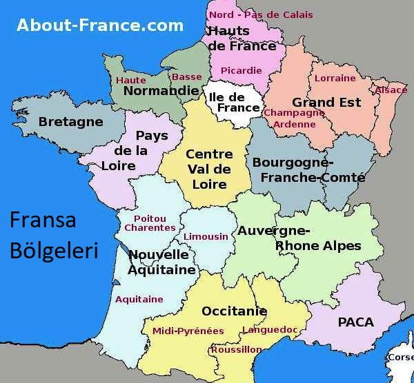 Fransa bölgeler