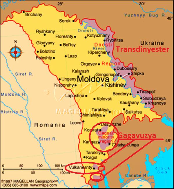 Gagavuzya nerede harita