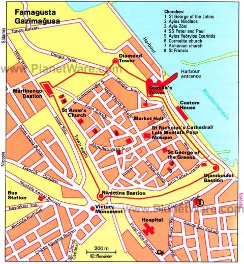 Gazimagusa harita
