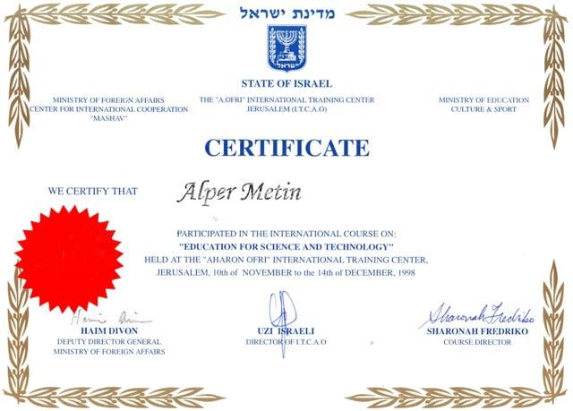 İsrail eğitim