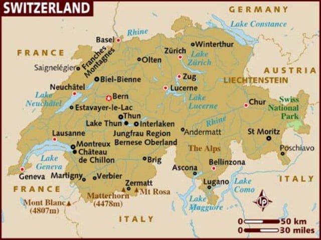 İsviçre harita