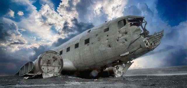 İzlanda düşen uçak