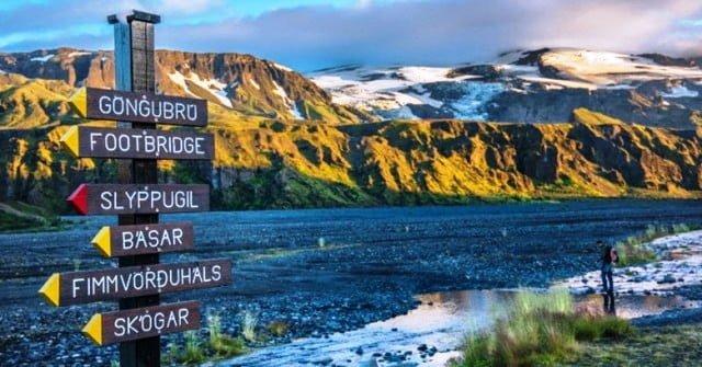 İzlanda trekking rota