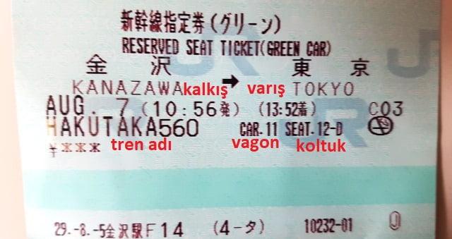 Japonya tren biletleri