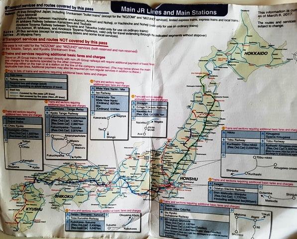 Japonya tren yolu haritası
