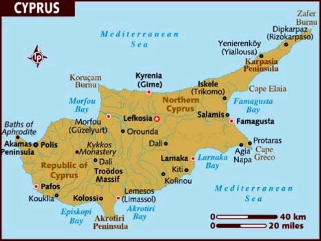 Kıbrıs harita