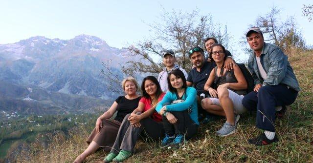 Kırgızistan dağlar