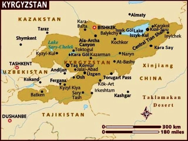 Kırgızistan nerede