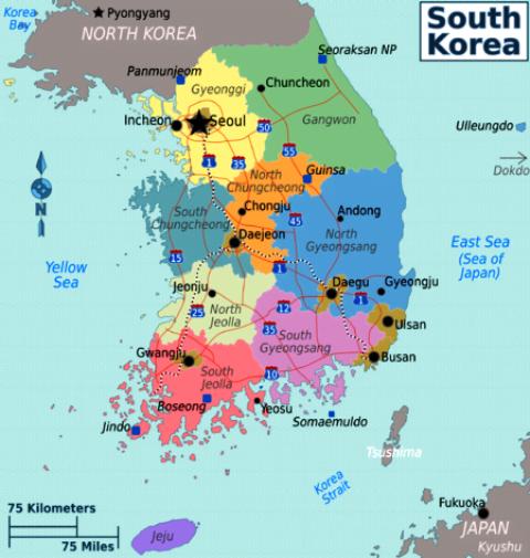 kore haritası