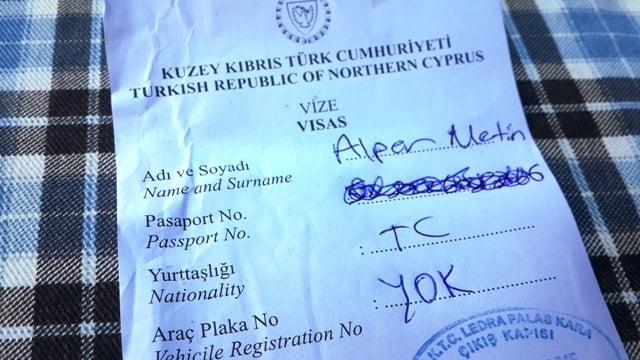 Kuzey Kıbrıs Güney Kıbrıs sınırı