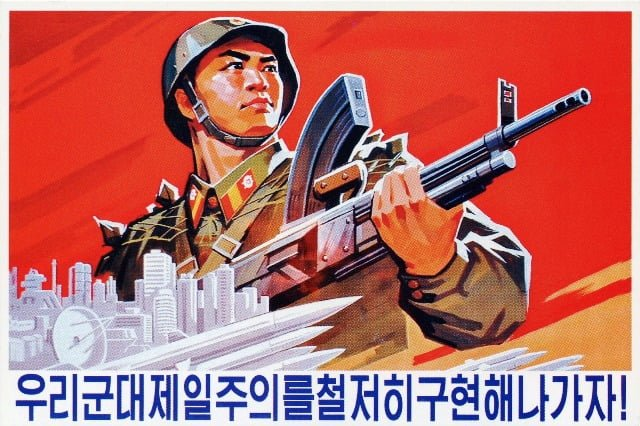 kuzey kore asker