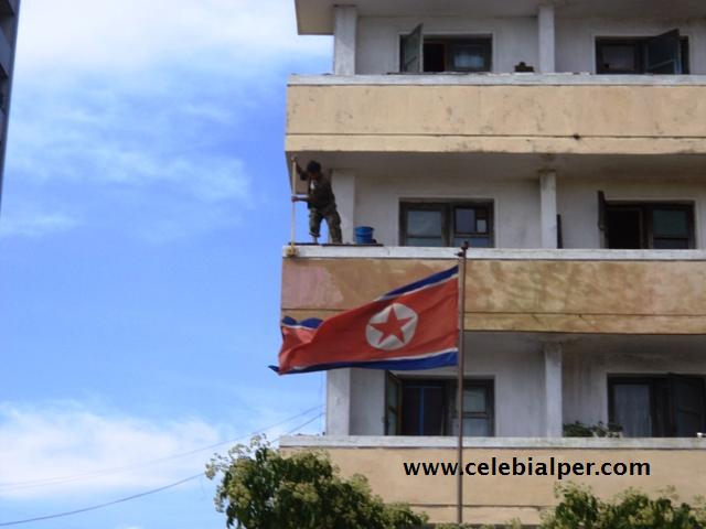 kuzey kore bayrak
