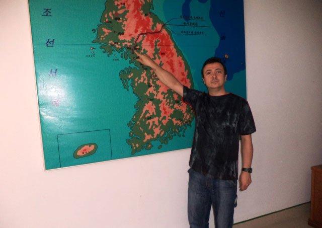 north korea south korea border map