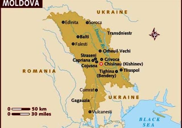 Moldova harita