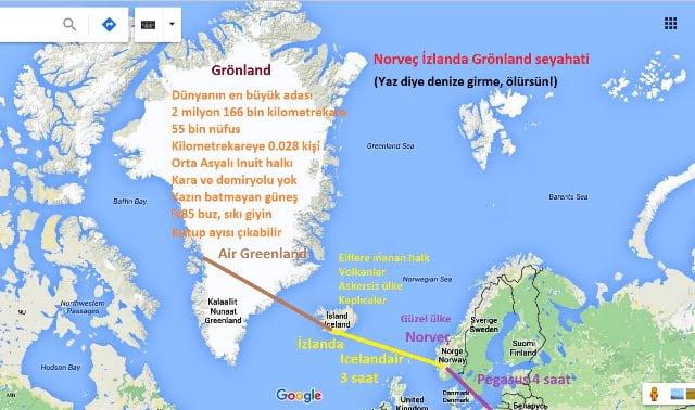 Norveç İzlanda Grönland seyahati