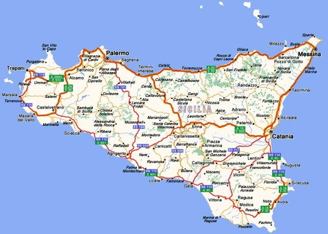 Sicilya harita
