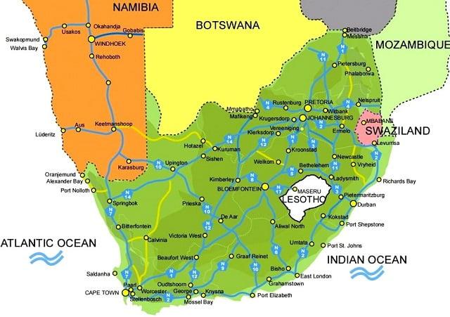 Swaziland nerede