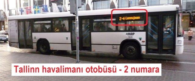 Tallinn havaalanı otobüs