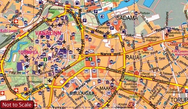 Tallinn kent haritası