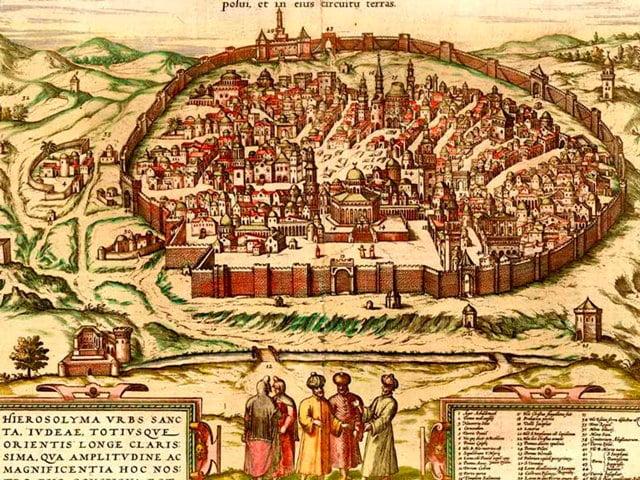 Kudüs tarihi harita