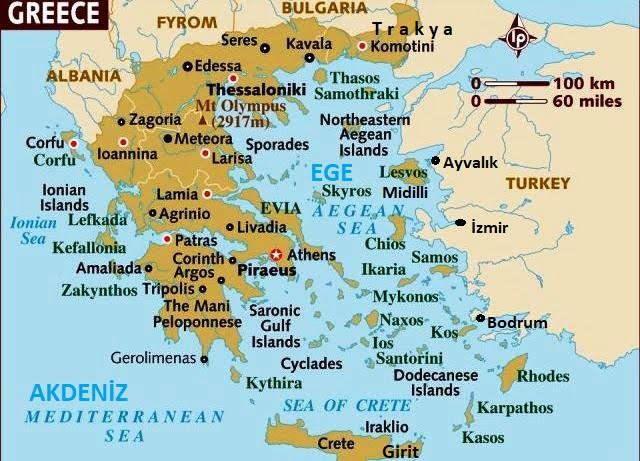 Yunanistan harita